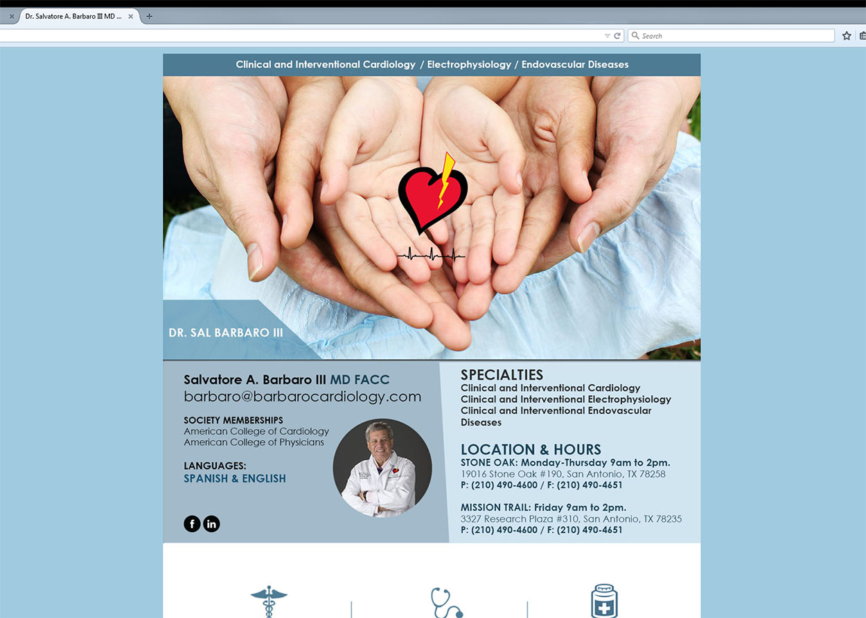 Barbaro MD Medical Website Website