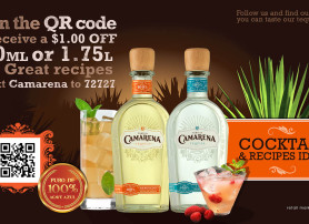 Camarena Tequila – Large T.V. Display