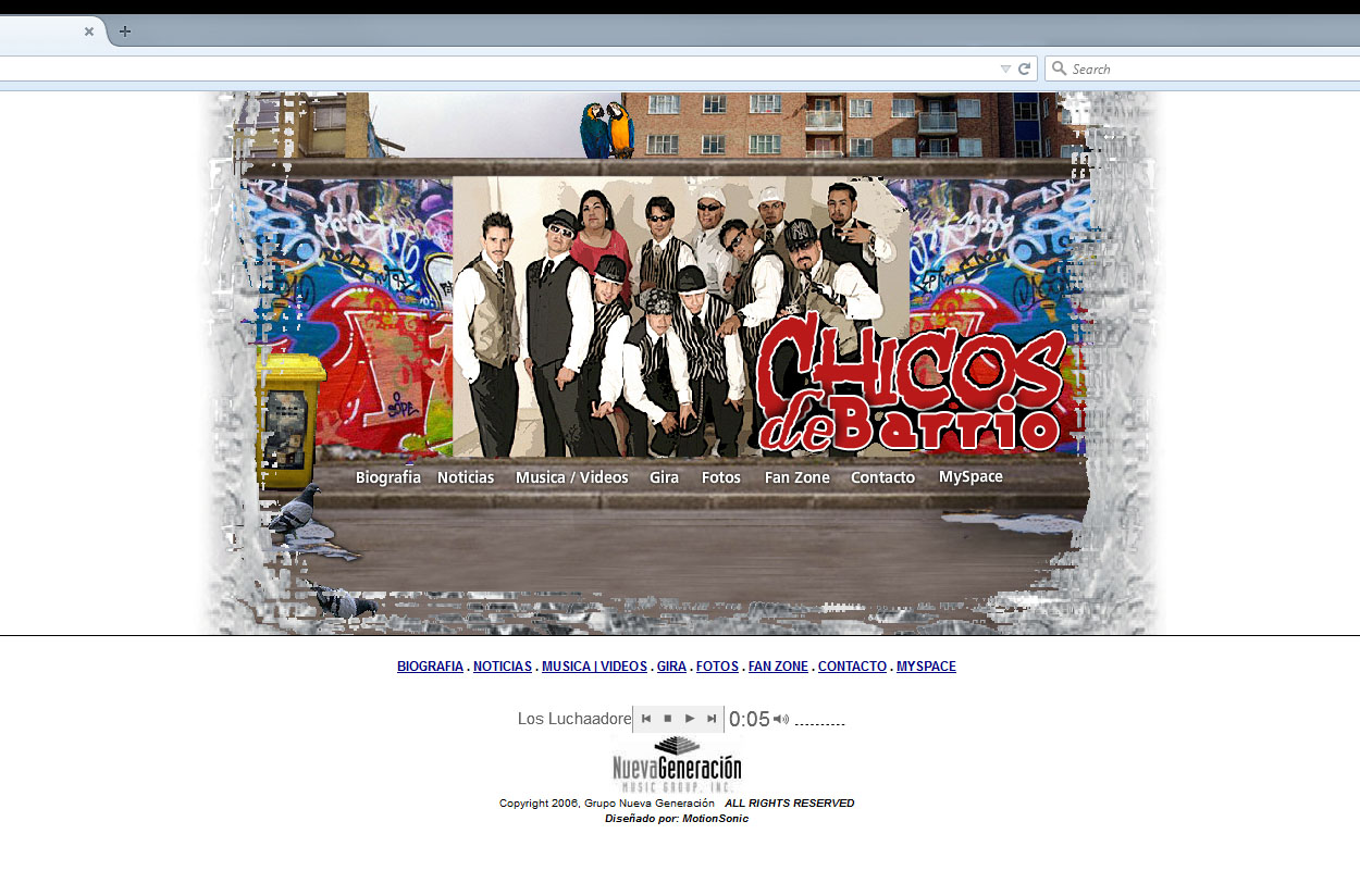 Chicos de Barrio Website