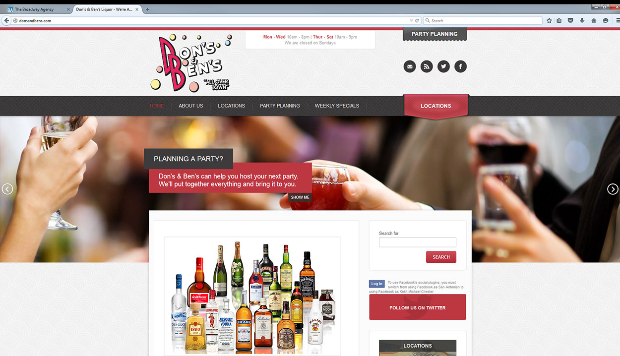 Don's & Ben's Retail Website