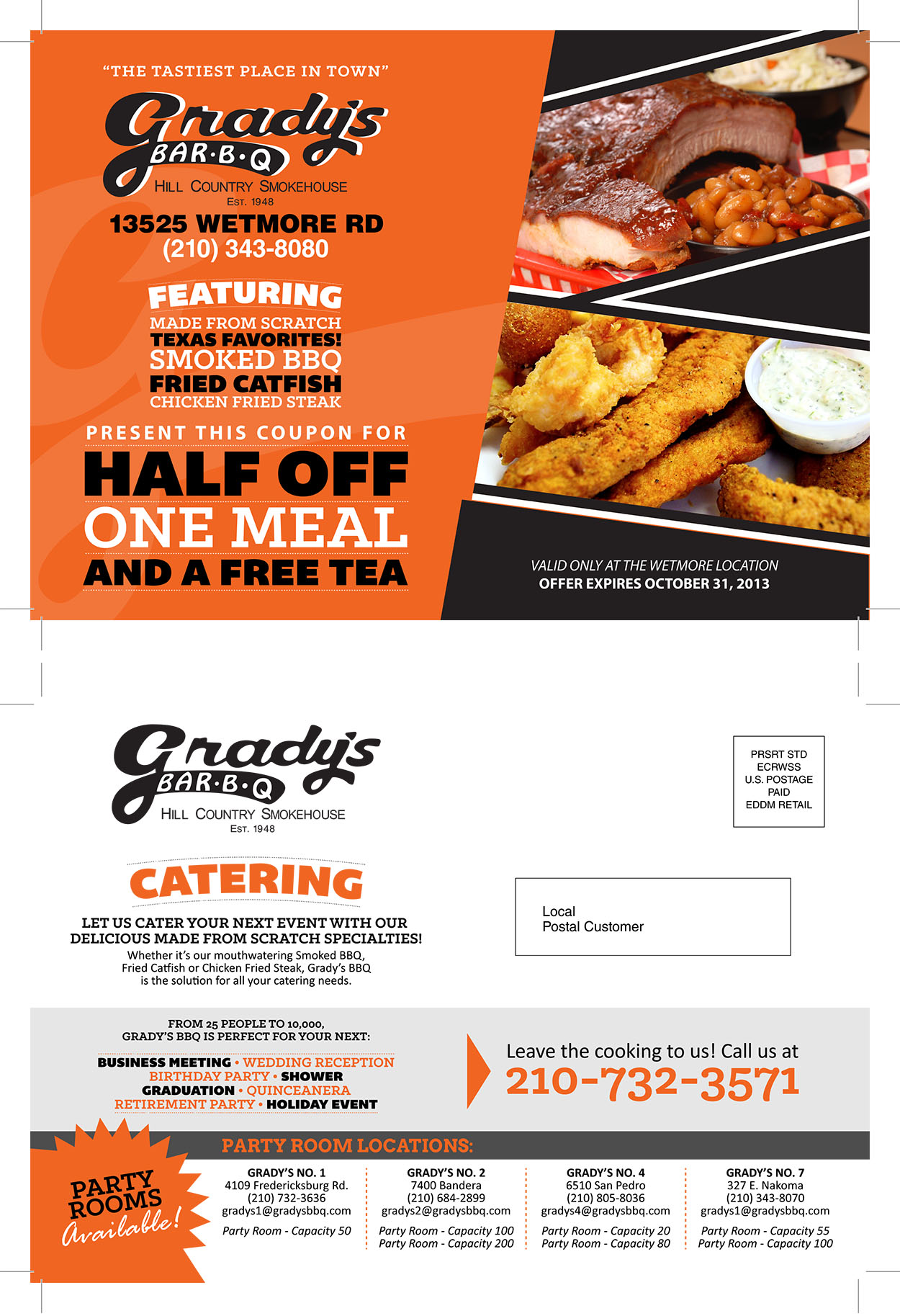 EDDM Mailer – Grady's BBQ
