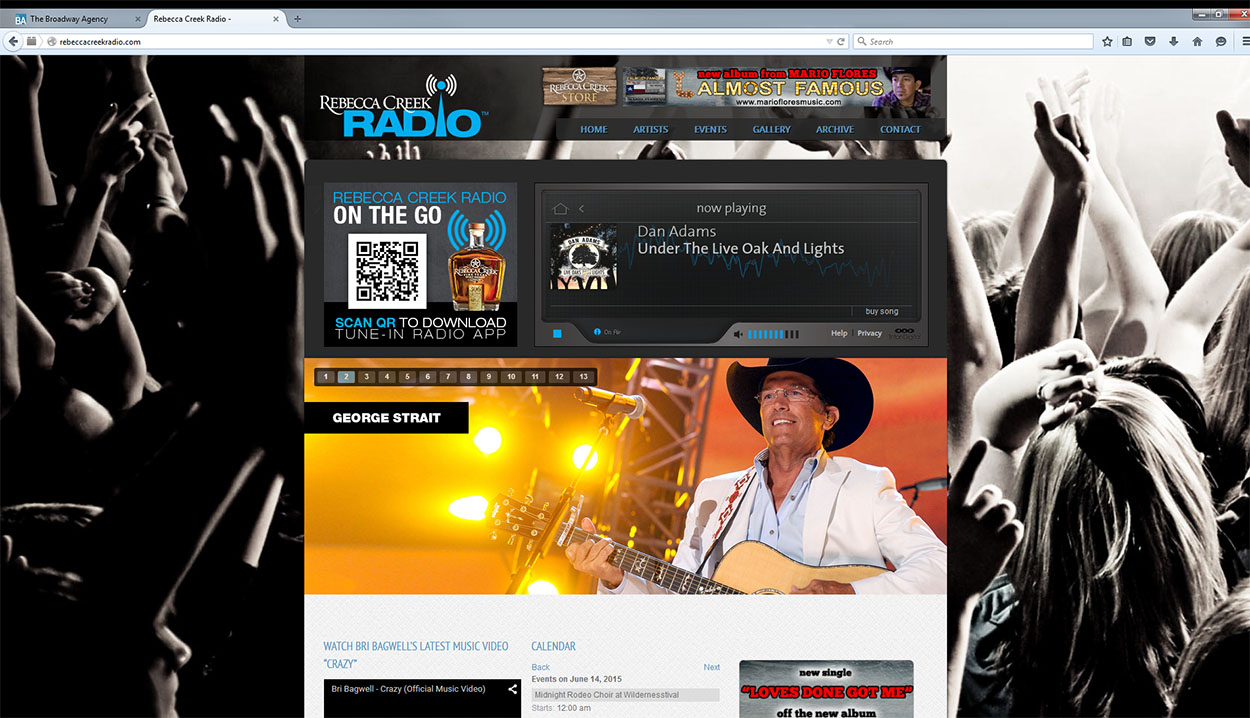 Rebecca Creek Whiskey Radio Website